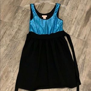 Candies Party Dress Electric Blue Sequin Sz. 5